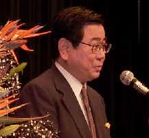 2003/12/3 素晴らしい講演-高野ひろし参議院議員が豊島総支部党員会で講演。沢雄二予定候補も