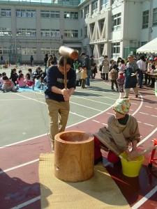 2006/2/11 区立長崎小学校120周年記念餅つき