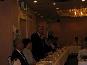 2006/7/21 ボーイスカウト豊島地区協議会朝食会-青木新会長さん