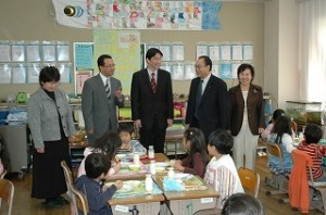 2006/12/6 区立清和小学校の食育取り組み視察