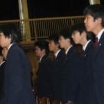 2004/3/13 区立千早中・第十中学校の閉校式
