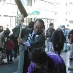2003/12/14 目白身障センター&目白協和会の餅つき大会開催