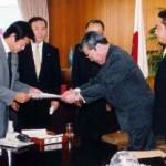 2003/10/7 中川昭一経済産業大臣と面会-車券場反対要請