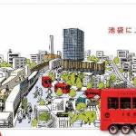19R1.9.27 西武池袋本店のウインドウをIKEBUKURO RED でデコレーション